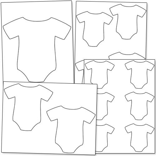 Baby Onesie Outline - Printable Treats