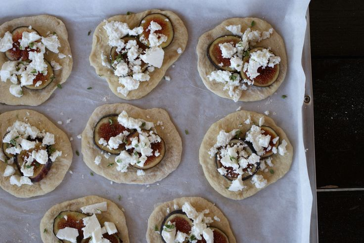 Flatbreads with Figs and Manouri Cheese