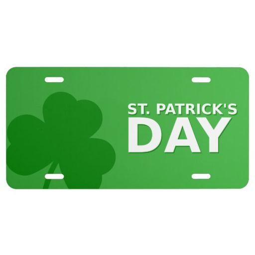 St Patrick's Day Shamrock License Plate