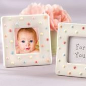 $1.79 Delightfully Dotted Frame Baby Shower Favor - www.partycity.com