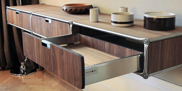 1000 images about system 180 sideboard i regal i wandboard i lowboard i design deli on pinterest - Wandboard walnuss ...
