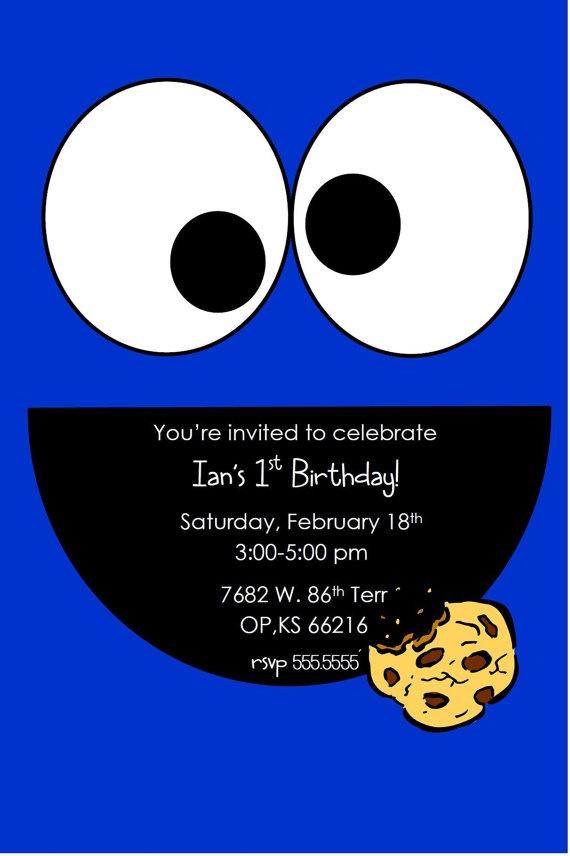 Sesame Street/Cookie Monster Printable Invites