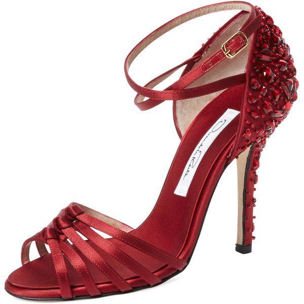 Oscar de la Renta Ana Embellished Sandal heels