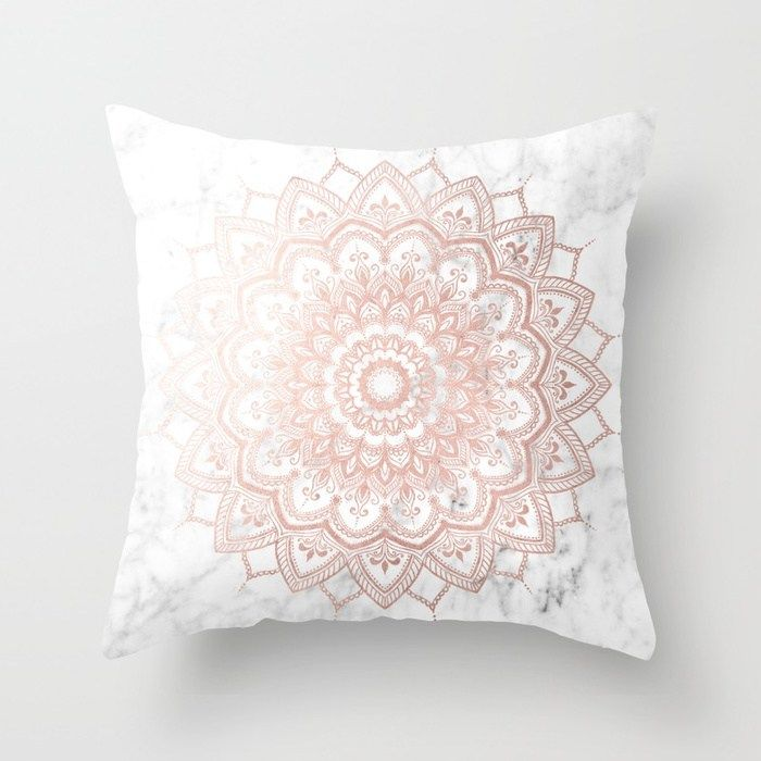 Buy Pleasure Rose Gold Throw Pillow By Mermaidandunicorn Worldwide Shipping Available At Society6 Com Gold Throw Pillows Rose Gold Throw Pillows Gold Pillows