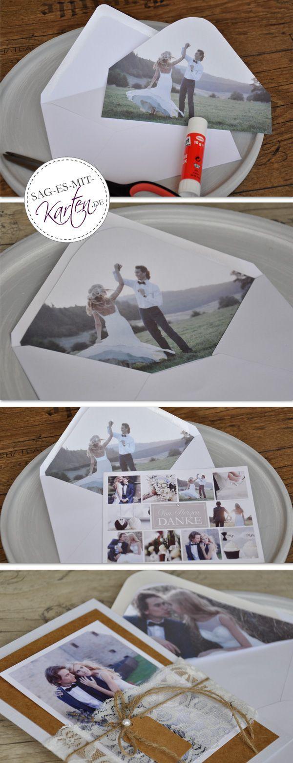Inlay für Briefumschläge zur Hochzeit basteln