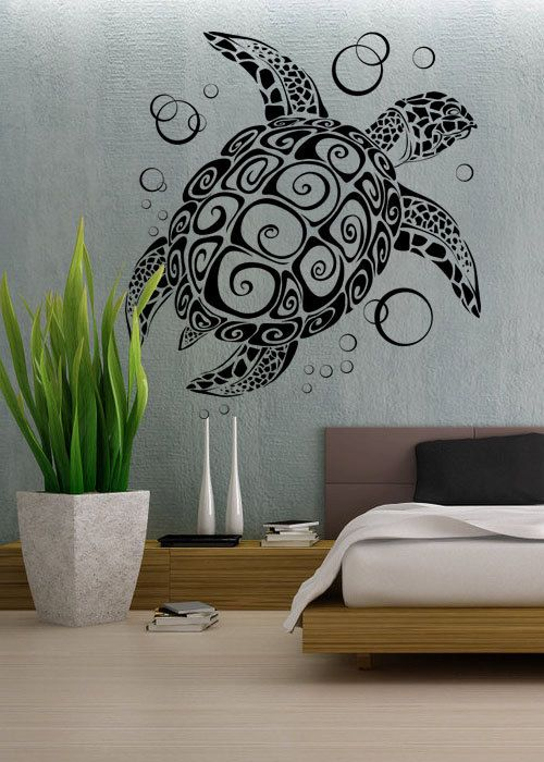 Sea Turtle - uBer Decals Wall Decal Vinyl Decor Art Sticker Removable Mural Modern A282 varying sizes