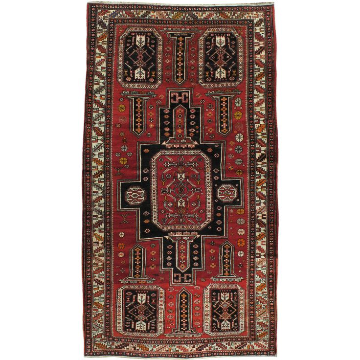 Vintage Russian Caucasian Rug | From a unique collection of antique and modern caucasian rugs at https://www.1stdibs.com/furniture/rugs-carpets/caucasian-rugs/