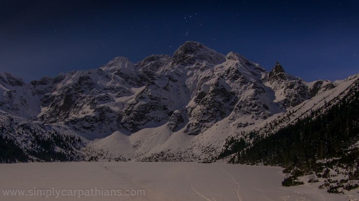 Morskie Oko by night. Tatra Mountains, Poland
