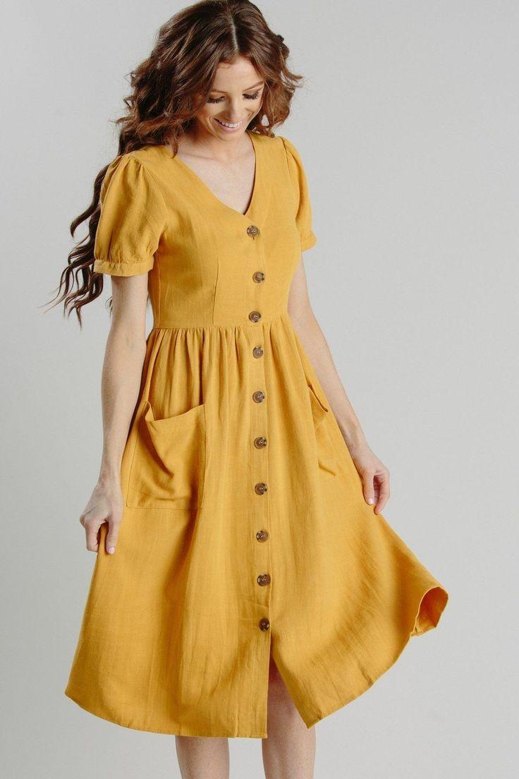 Summer yellow dress   Simple dresses