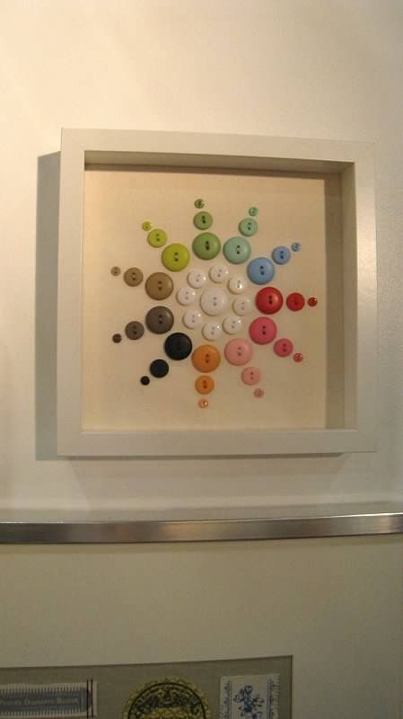 ⊙ Cute as a Button ⊙ artful button crafts and diy inspiration - framed button spiral