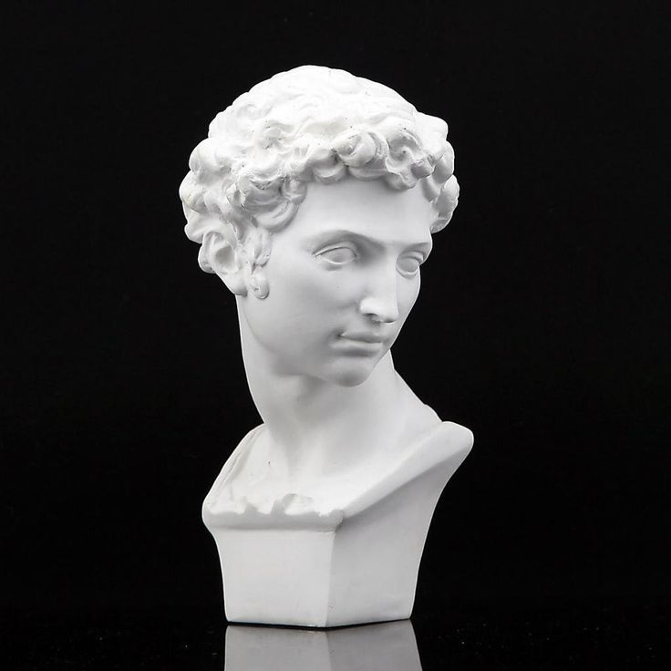 "Amazon.com - Height 6"" 15.5cm Giuliano Medici Plaster Bust Statue Resin Casting Painting White -"