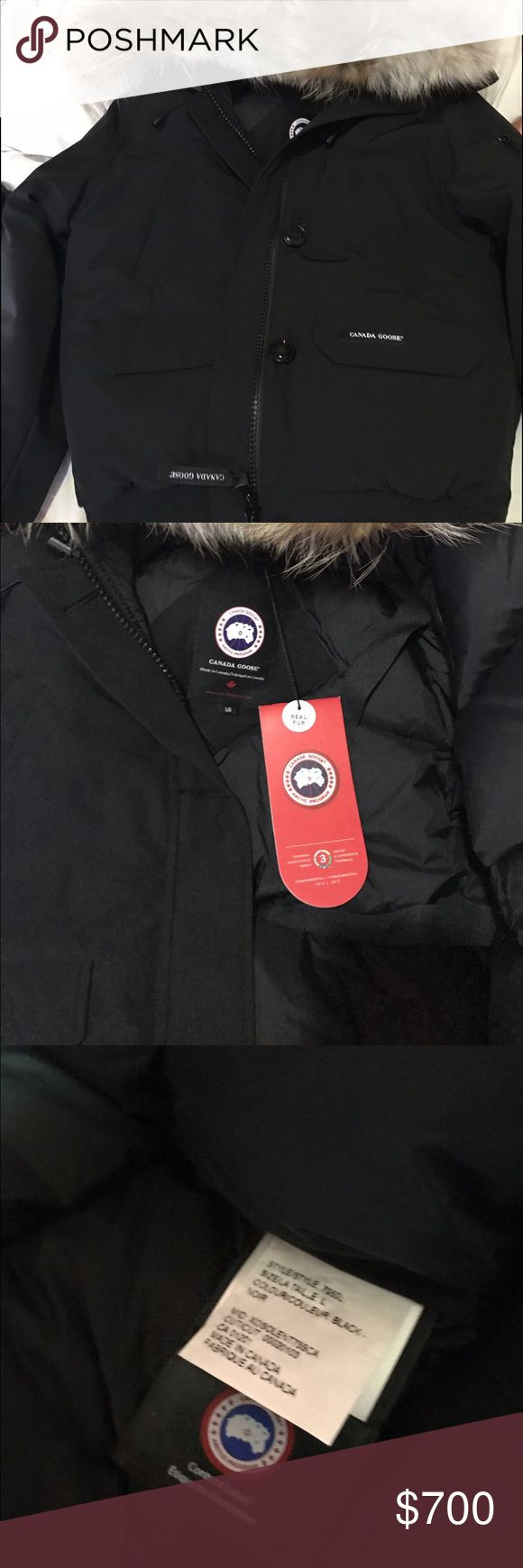 Canada Goose Bomber - Large (Women's) Large Canada goose Chilliwack Bomber in black with tags. Jackets & Coats