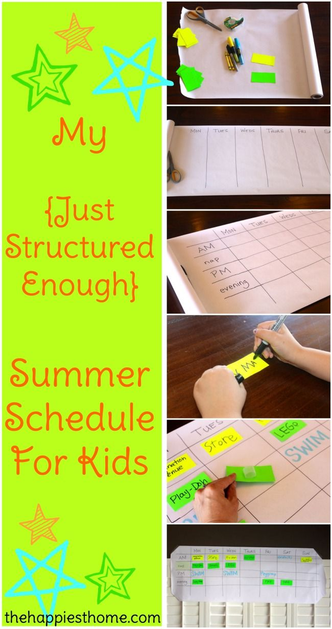 "My ""Just Structured Enough"" Summer Schedule For Kids"