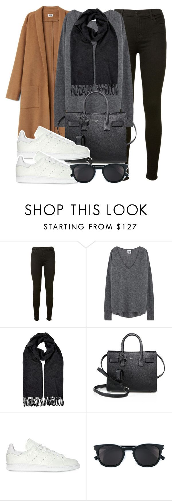 """""""Untitled #11984"""" by vany-alvarado ❤ liked on Polyvore featuring J Brand, Burberry, Yves Saint Laurent and adidas Originals"""