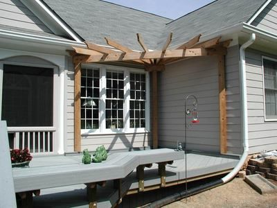 Front Porch Pergola Ideas   Corner Pergola - Pergolas & Trellises Photo Gallery - Archadeck of ...