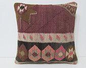 organic throw pillow 18x18 DECOLIC luxury cushion large area rug boho pillow handmade decorative pillow colorful 26096 kilim pillow 45x45