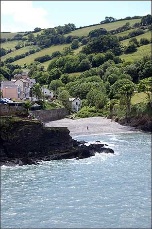 A deserted cove at Combe Martin Devon