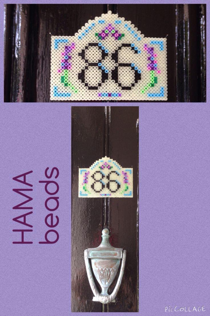Hama beads, house numbers :)