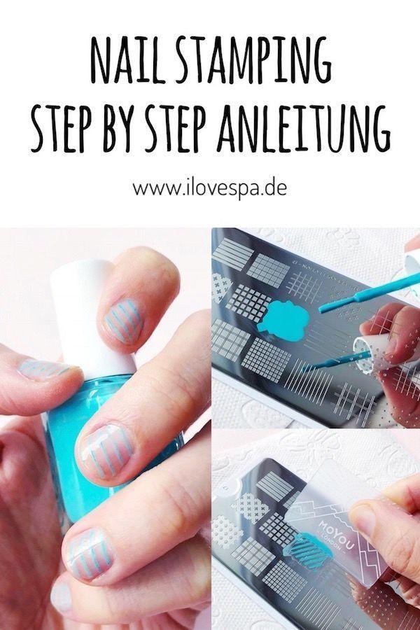 Machen Sie sich Nail Stamping – eine Schritt für Schritt Anleitung   – Nageldesign schlicht – Maniküre natürlich – #Anleitung #eine #für #machen #…