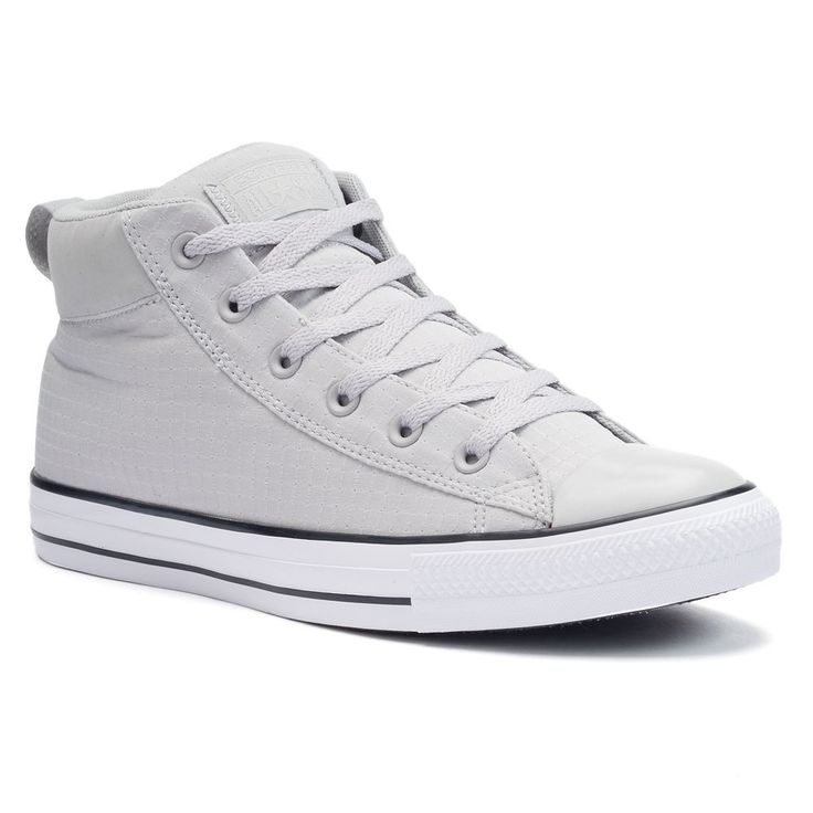 Men's Converse Chuck Taylor All Star Street Mid Squares Shoes, Size: 12, Grey Other