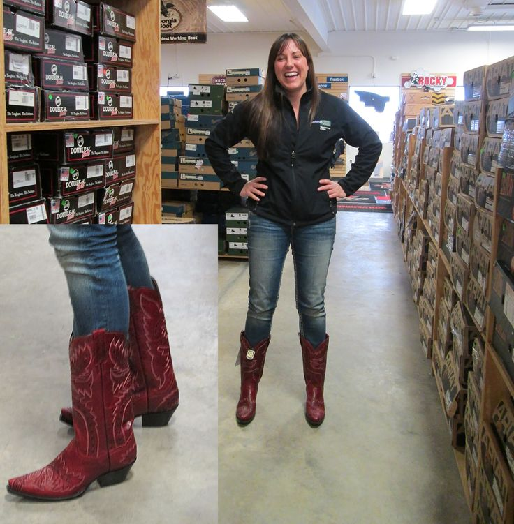 Customer from out of town came into the store today. She is very happy about getting these Cowgirl boots from Dan Post (style #3455)