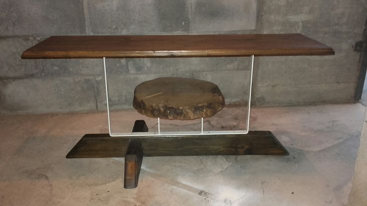 Tavolino  da salotto ferro  e legno