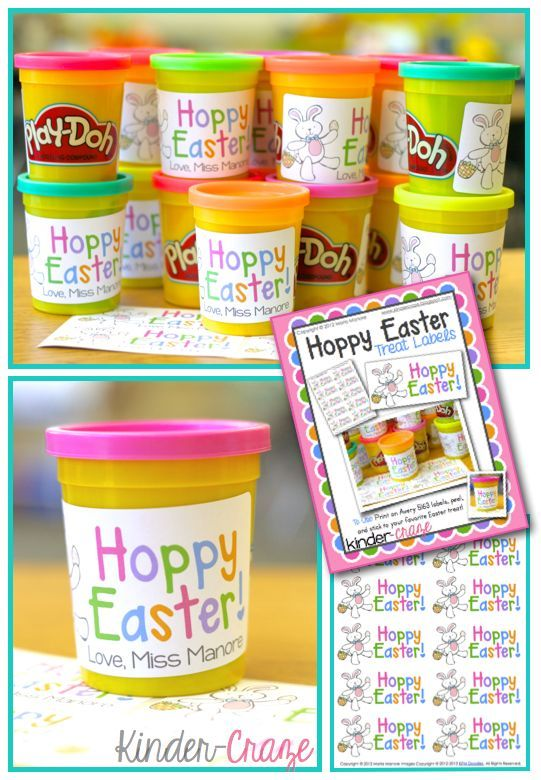 """FREE """"Hoppy Easter"""" labels - adorable!"""