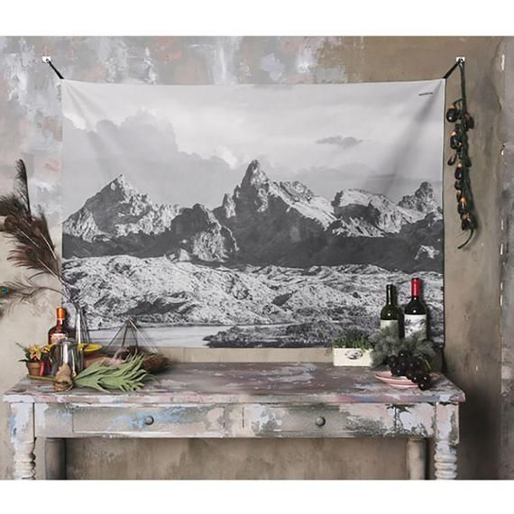 PANDAYAQ Watercolor World Map Tapestry Multi Splatter Abstract Painting Tapestry Wall Hanging Art for Living Room Bedroom Dorm Home Decor