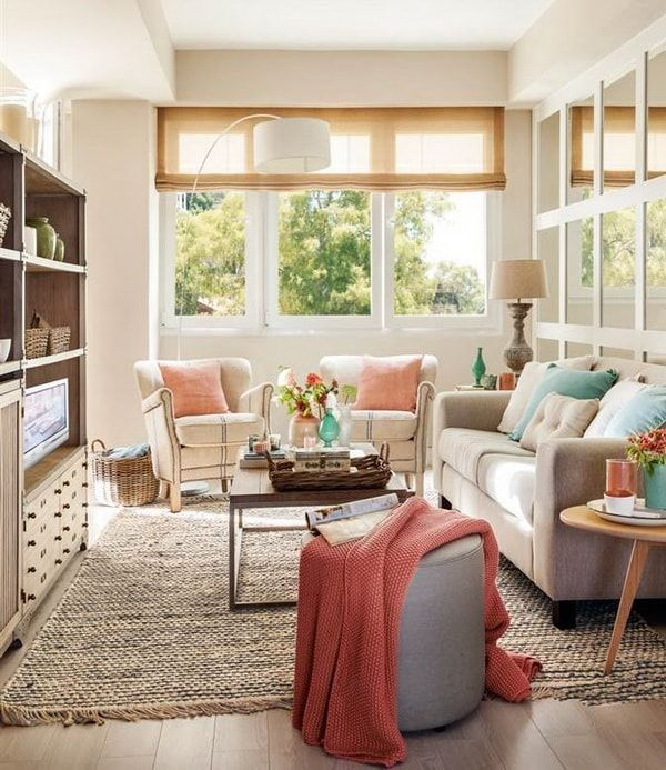 38 Small Yet Super Cozy Living Room Designs: Decoración De Salas Pequeñas. Ideas Para Salones Pequeños