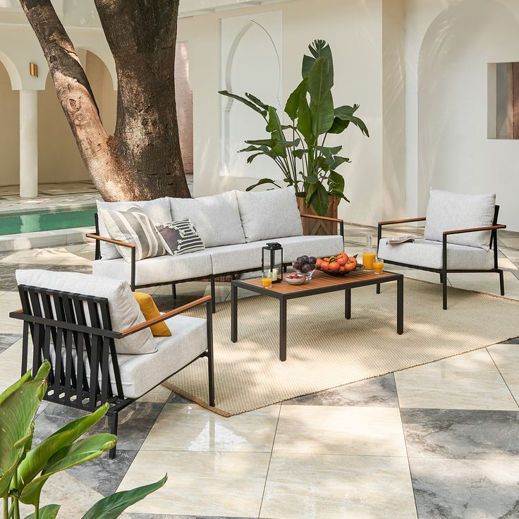 Dining Room Furniture, Furniture Decor, Outdoor Furniture Sets, Outdoor Kitchen Patio, Outdoor Lounge, Modern Outdoor Living, Online Furniture Stores, Table Settings, Living Spaces