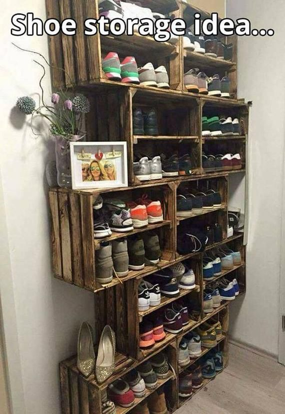 Shabby Chic Wooden Shoe Rack X 10 Handmade Vintage Style Apple Crate Box Bushel Natural Wood Diy Shoe Rack Diy Storage Laundry Room Storage