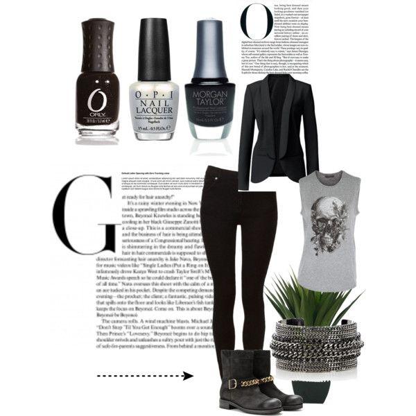 """""""Grinta, carattere e tanto sex appeal per affrontare la settimana! #chic #rock #style #fashion #polish"""" by unghie-bellezza on Polyvore"""