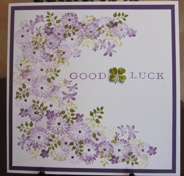 Card-io stamps Good Luck by Michele G - Cards and Paper Crafts at Splitcoaststampers