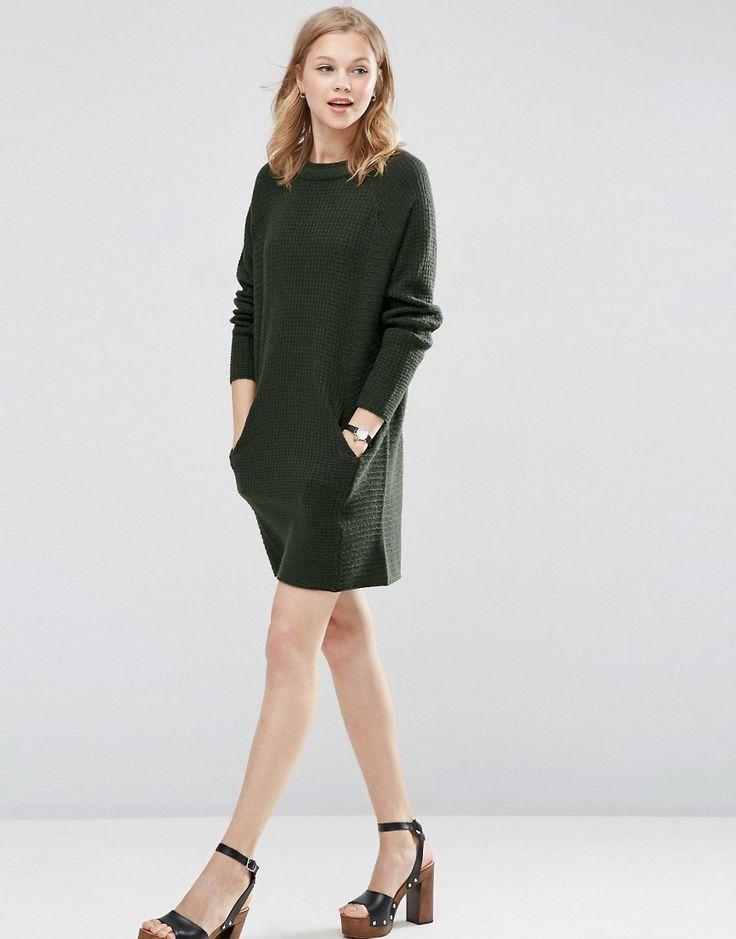 Bild 4 von ASOS – Pulloverkleid mit Doppelkragen und Taschen