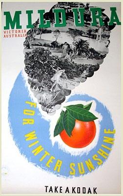 Vintage Poster. Mildura