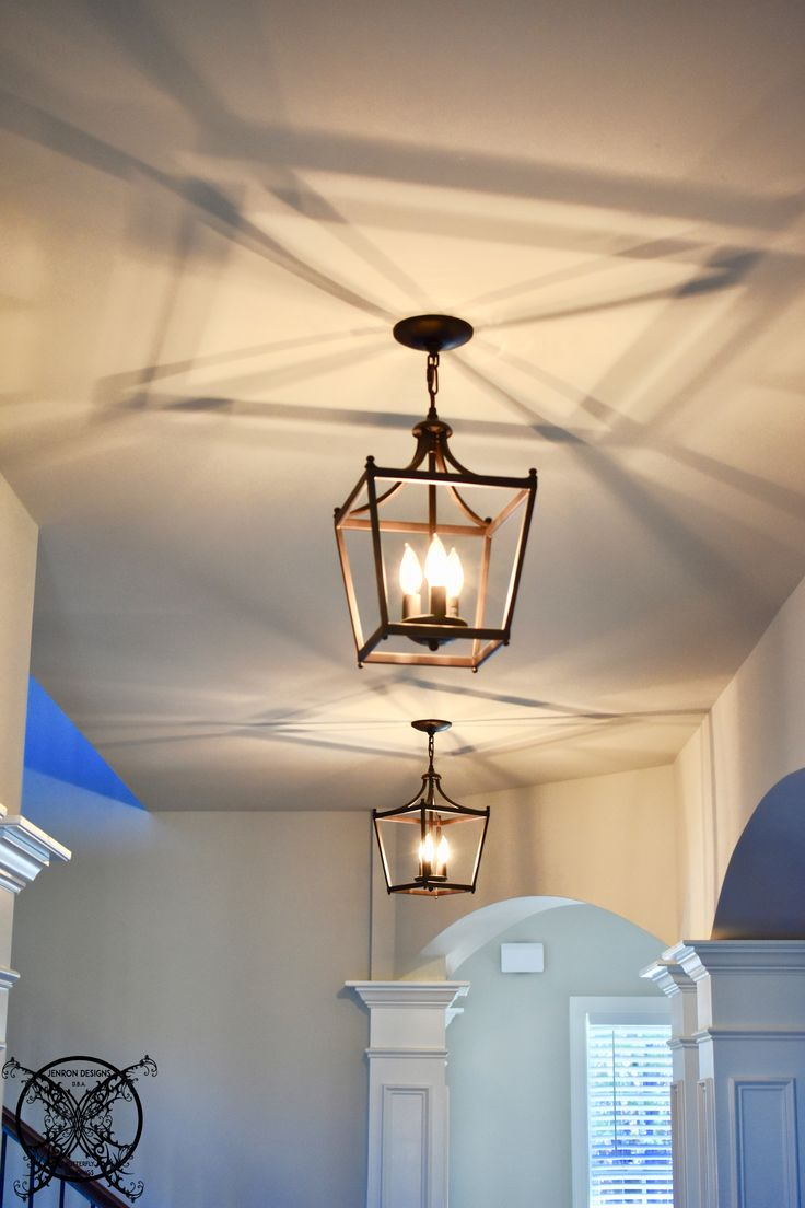 Unique Light Fixture Hallway