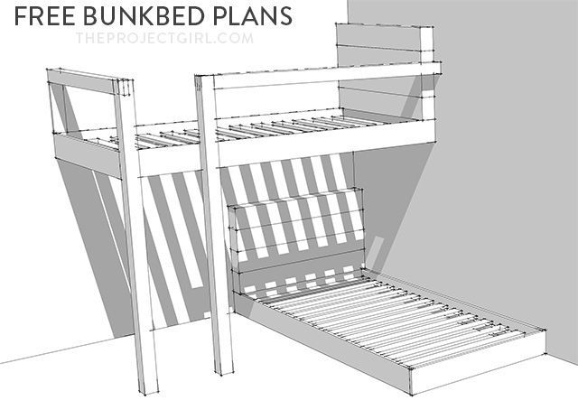 Bunk Bed Plans on Pinterest | Loft bed for boys room, Custom bunk ...