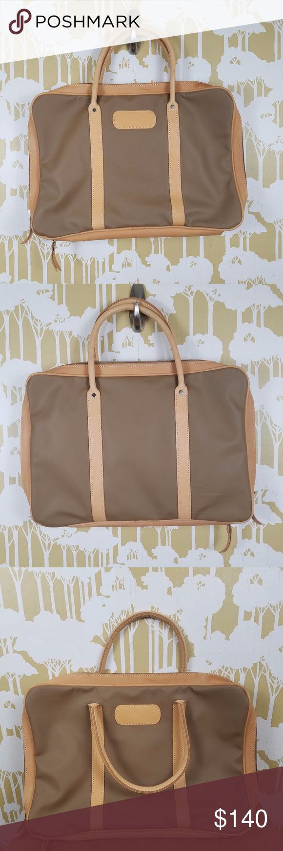"""Jon Hart Design Satchel Briefcase Tote Zipper Bag Very good condition. Appears to have never been used. Light discoloration to leather in a couple of areas. (Please see photos for best description.) Measures 18"""" Wide x 12"""" Tall x 3"""" Thick Jon Hart Bags Laptop Bags"""
