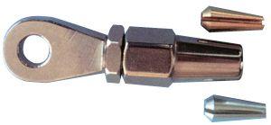 Terminal Inox de ojo para conexion rapida cable náutico 4 mm