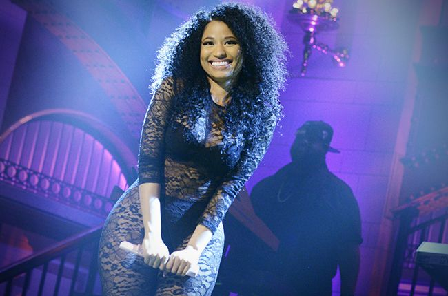 """""""Feeling Myself"""" just made Nicki Minaj the first female artist to chart four songs simultaneously in the top 10 of Billboard's Mainstream R&B/Hip-Hop airplay chart. The only other two artists to do so? Drake and Lil Wayne."""