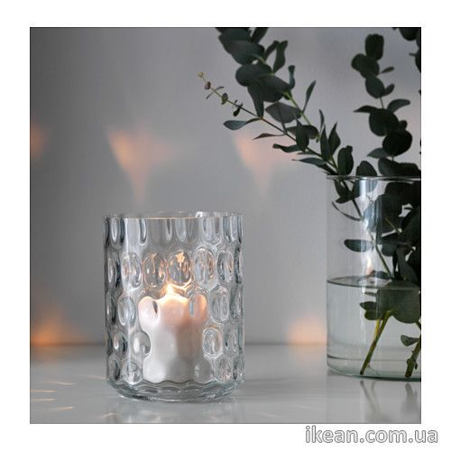 ГОДКЭННА  Ваза/фонарь, прозрачное стекло 102.379.50: цена, описание, продажа - Мебель IKEA (ИКЕА, ИКЕЯ) доставка по всей Украине: детская, офисная и мягкая мебель, спальни, гостиные, столовые, ванные, кухни, мебель для дачи и многое другое - ikean, икеан.