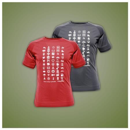 T-shirt di bambù traspirante a anti odore di Canadian