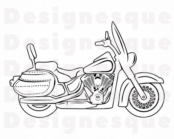 Motorcycle Outline 15 Svg Motorcycle Svg Motor Bike Svg