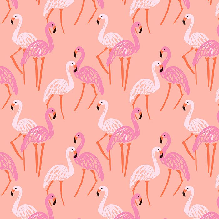 Painterly Flamingo - Pattern designed by Emily Isabella