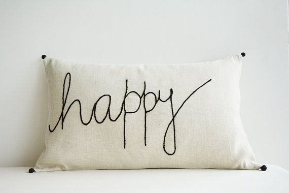Hand-embroidered happiness. #etsyfinds
