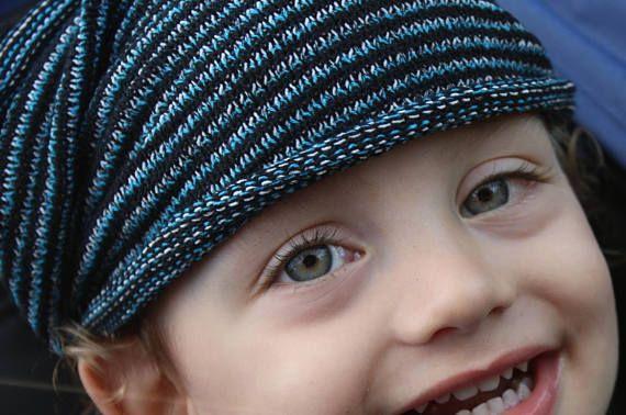 REGULAR Width Blue Mens Knit Headband Blue Hipster Headband