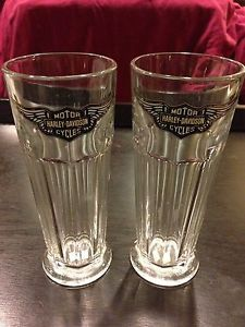 Teamchristian Pair of Tall Glass Harley Davidson Glasses | eBay