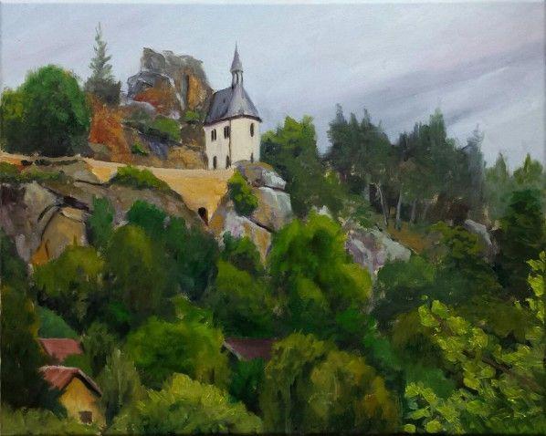 Manuel Boonzaaijer verkoopt #schilderij 'Boheems landschap' (nabij Mala Skala) via #KUNSTmarktplaats.nl. #kunst #art #Tsjechië #Mala Skala #olieverf #landschap #Boheems