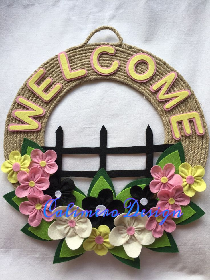 Spring wreath, Summer wreath, Welcome wreath, Home sweet home wreath, Front door wreath, Floral door hanger, Spring door hanger by Calimerodesign on Etsy https://www.etsy.com/listing/486714445/spring-wreath-summer-wreath-welcome