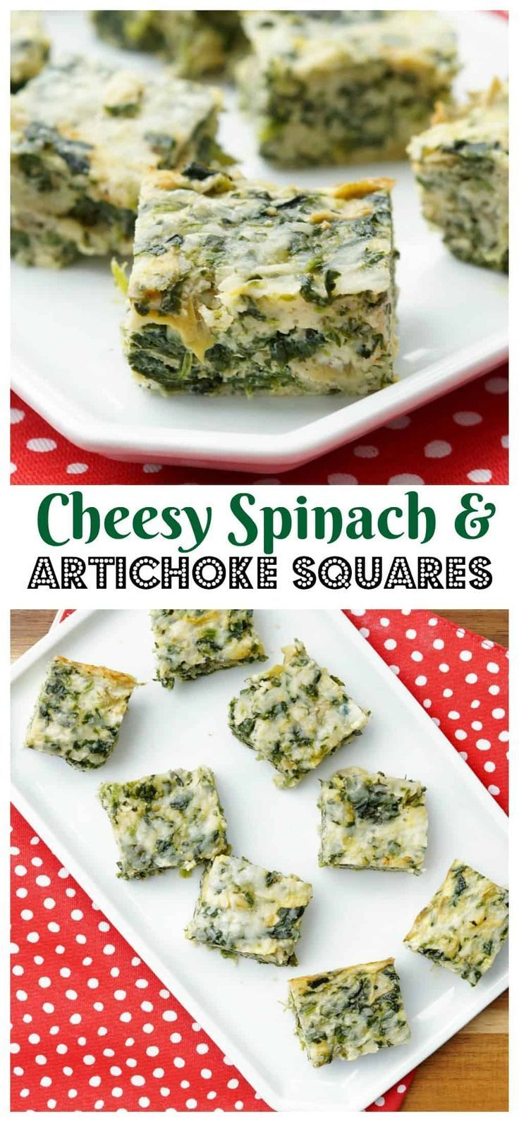This Spinach and Artichoke Bites will be the most versatile dish on your table! Full of cheese, spinach, and artichokes, everyone's favorite dip becomes an easy side dish recipe! #appetizer #spinachandartichoke #apps #spinach #cheese #recipe #sidedish #partyfood